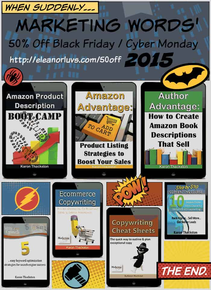 Marketing Words' 50% Off Black Friday / Cyber Monday Promotion 2015