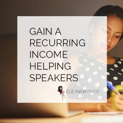 Gain a recurring income helping speakers