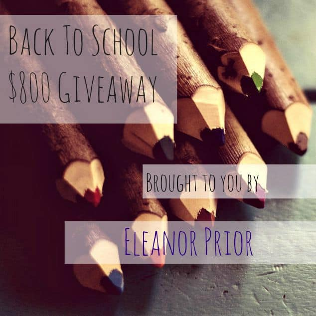 The Back To School $800 Giveaway