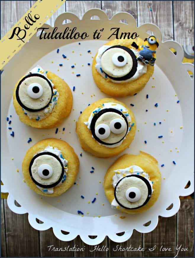 Minion Shortcakes For Your Little Shortcakes