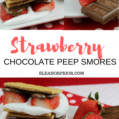 Chocolate Strawberry Peep Smores