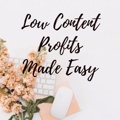 Low Content Profits Made Easy With The Ez Pub Profits Guide
